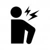 関節痛・肩の痛みや肩こりの白黒シルエットイラスト