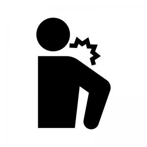 関節痛・肩の痛みや肩こりの白黒シルエットイラスト02