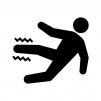 足の痺れ(しびれ)・痛みの白黒シルエットイラスト