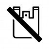ノーレジ袋(レジ袋不要)の白黒シルエットイラスト