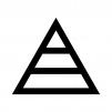 ピラミッド構造の白黒シルエットイラスト