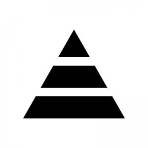 ピラミッド構造の白黒シルエットイラスト03