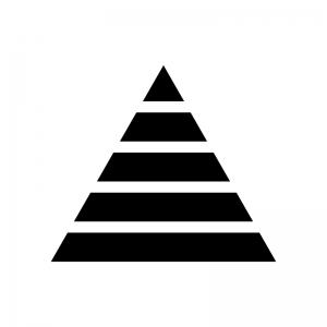 ピラミッド構造の白黒シルエットイラスト04
