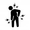 関節痛・肩・腰・膝の痛みの白黒シルエットイラスト