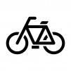 自転車の白黒シルエットイラスト03