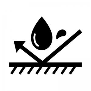 防水の白黒シルエットイラスト