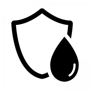 防水の白黒シルエットイラスト02