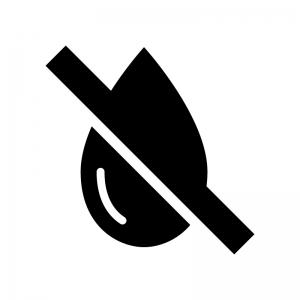 防水の白黒シルエットイラスト03