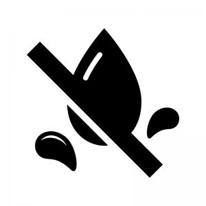 防水の白黒シルエットイラスト04