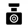 ドライブレコーダー(ドラレコ)の白黒シルエットイラスト02