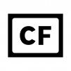 CF(コンパクトフラッシュ)カードの白黒シルエットイラスト