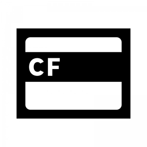 CF(コンパクトフラッシュ)カードの白黒シルエットイラスト02