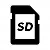 SDカードの白黒シルエットイラスト02