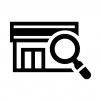 お店・店舗を検索の白黒シルエットイラスト