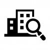 お店・店舗を検索の白黒シルエットイラスト02
