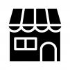お店・店舗の白黒シルエットイラスト02