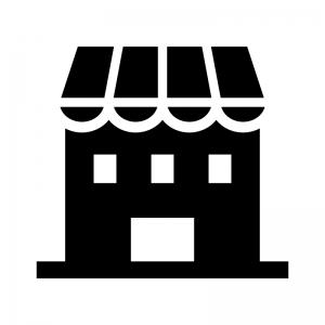 お店・店舗の白黒シルエットイラスト03