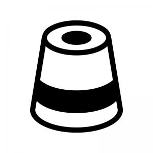 スマートスピーカーの白黒シルエットイラスト03