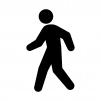 歩く・歩行者の白黒シルエットイラスト