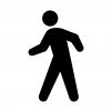 歩く・歩行者の白黒シルエットイラスト02