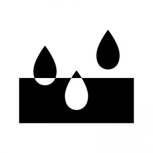 吸水の白黒シルエットイラスト