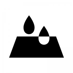 吸水の白黒シルエットイラスト02