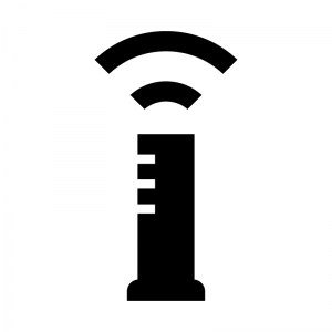 Wi-Fi機能付きルータの白黒シルエットイラスト02