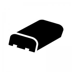 電池・バッテリーパックの白黒シルエットイラスト