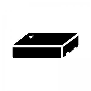 電池・バッテリーパックの白黒シルエットイラスト02