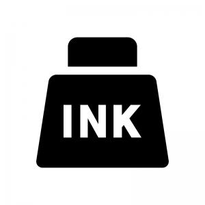 インクの白黒シルエットイラスト02