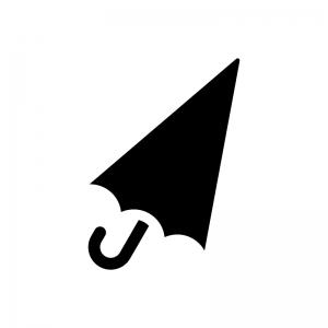 傘の白黒シルエットイラスト
