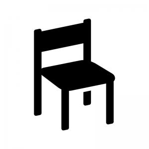 椅子の白黒シルエットイラスト