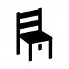 椅子の白黒シルエットイラスト02