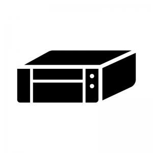 インクジェットプリンターの白黒シルエットイラスト