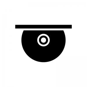 ディスクイジェクトの白黒シルエットイラスト