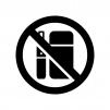 電子タバコ禁止の白黒シルエットイラスト02