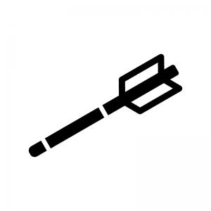 縁起物・破魔矢の白黒シルエットイラスト