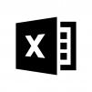 Excel(エクセル)ファイルの白黒シルエットイラスト03