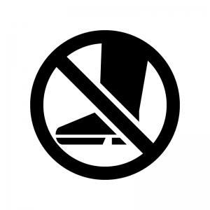 「入らないでください」の白黒シルエットイラスト