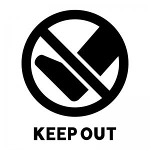 「入らないでください」の白黒シルエットイラスト02
