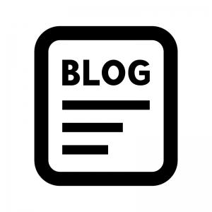 ブログの白黒シルエットイラスト