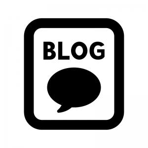 ブログの白黒シルエットイラスト02