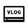 VLOG(ブイログ)の白黒シルエットイラスト02