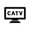 CATV(ケーブルテレビ)の白黒シルエットイラスト