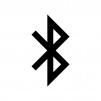 Bluetooth(ブルートゥース)マークの白黒シルエットイラスト02