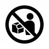 持ち出し禁止の白黒シルエットイラスト02