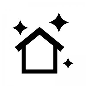 新築・リフォームの白黒シルエットイラスト