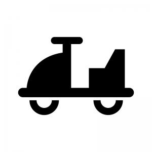 乗り物の遊具の白黒シルエットイラスト02