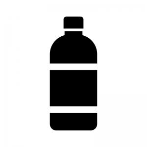 ドリンク・ペットボトルの白黒シルエットイラスト