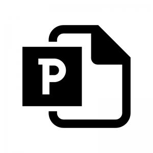 PowerPoint(パワーポイント)ファイルの白黒シルエットイラスト02